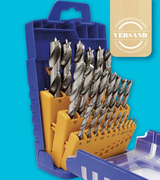 Fisch-Tools HSS Holzspiralbohrerset, 25-tlg.
