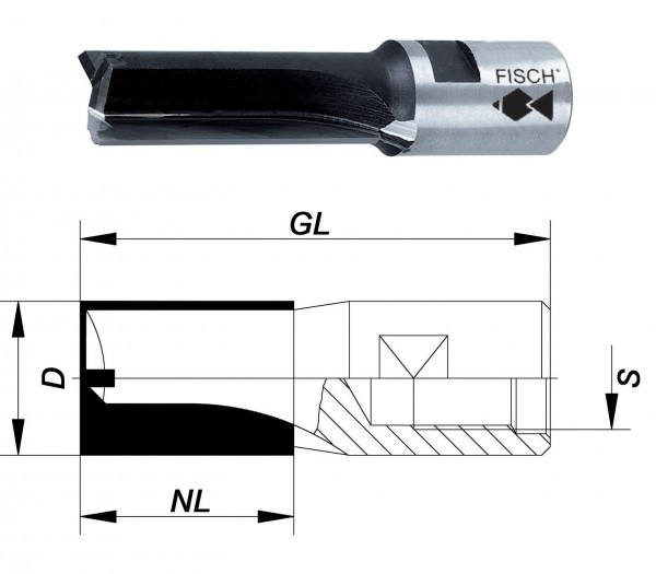 nutfräser mit innengewinde m12x1