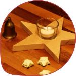 Teelichthalter in sternform