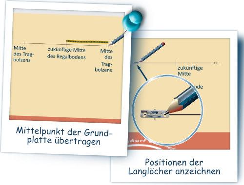 06-Sitz der Grundplatte anzeichnen