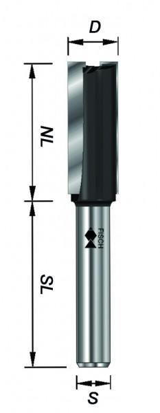 nutfräser, 12 mm Schaft