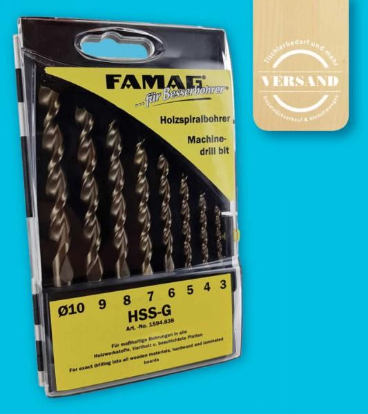 8-teiliger Premium Holzbohrersatz, Ø 3, 4, 5, 6, 7, 8, 9+10 mm