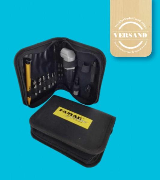 Winkelschraubvorrichtung 90fix in praktischer Tasche für unterwegs (13-teilig)