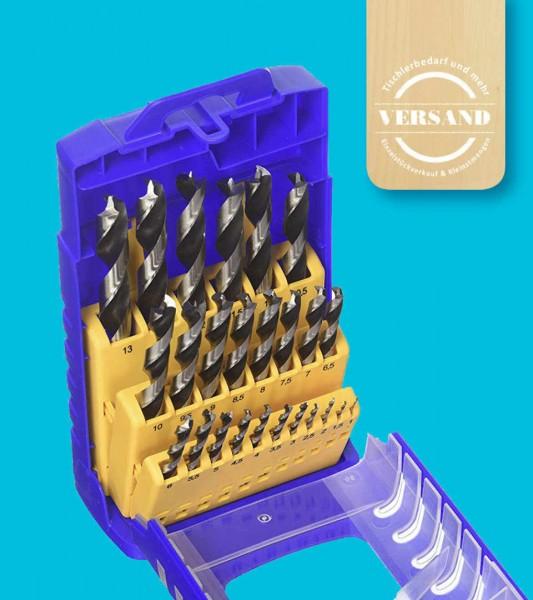Fisch-Tools WS Holzspiralbohrerset, 25-tlg.