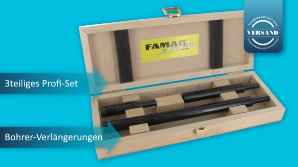 FAMAG Verlängerungsset für Forstnerbohrer und Bohrer mit 10 mm Schaft