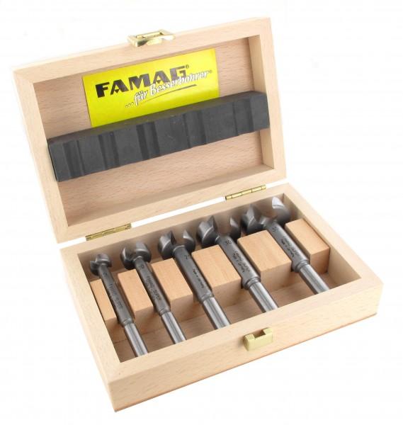 FAMAG Classic Forstnerbohrer WS-Satz, 5-teilig, Ø 15 - 35 mm