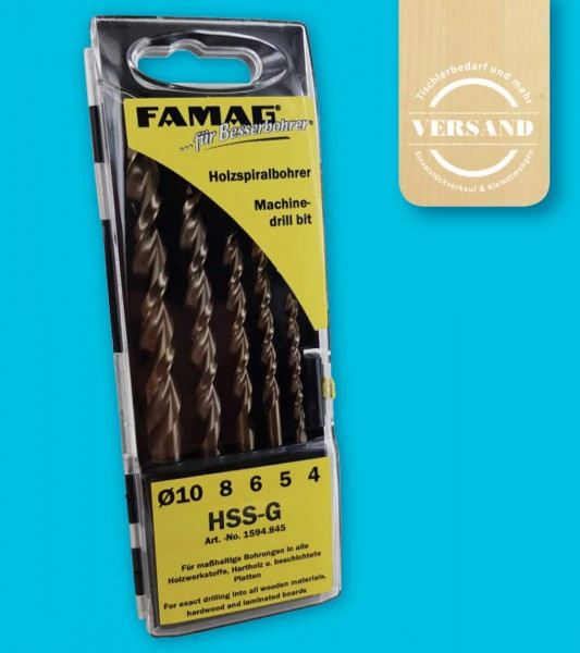5-teiliges Premium Holzbohrerset, Ø 4,5,6,8 und 10 mm